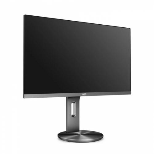 """27"""" AOC I2790PQU/BT Black-Silver (IPS, 1920x1080, D-sub+HDMI+DP, 4 ms, 178°/178°, 250 cd/m, 20M:1, MM, Pivot)  I2790PQU/BT"""