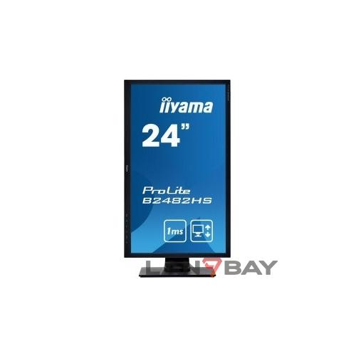 """IIYAMA 24"""" B2482HS-B5 черный TN 1920x1080 75Hz 1ms 170/160 250cd 1000:1 8bit D-Sub DVI HDMI1.4 FlickerFree VESA 2x1W"""