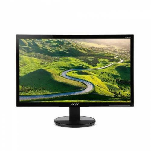 "24"" ACER K242HLBID Black (TN, 1920x1080, D-sub+DVI+HDMI, 5 ms, 170°/160°, 250 cd/m, 100M:1) (607561)  UM.FX3EE.002"