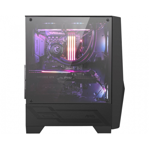 Корпус MSI MAG FORGE 100R / mid-tower, ATX, tempered glass side panel / 2x120mm ARGB & 1x120mm system fans inc. / MAG FORGE 100R