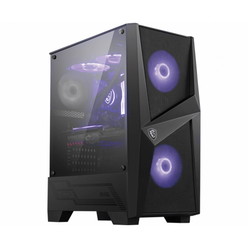 Корпус MSI MAG FORGE 100M / mid-tower, ATX, tempered glass side panel / 2x120mm RGB & 1x120mm system fans inc. / MAG FORGE 100M