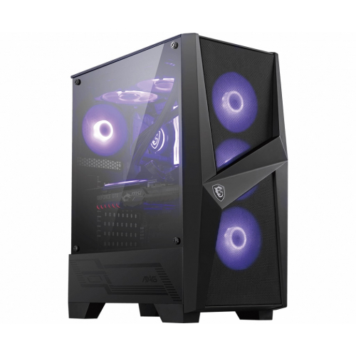 Корпус MSI MAG FORGE 101M / mid-tower, ATX, tempered glass / 4x120mm RGB fans inc. / MAG FORGE 101M